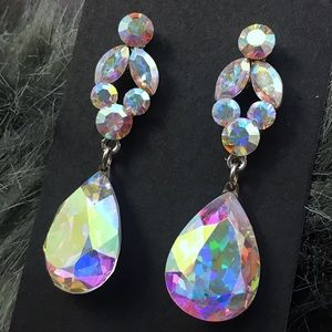 Dramatic Show Stopping Swarovski AB Crystal Drops